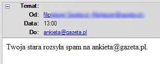 Twoja stara spam na gazeta.pl