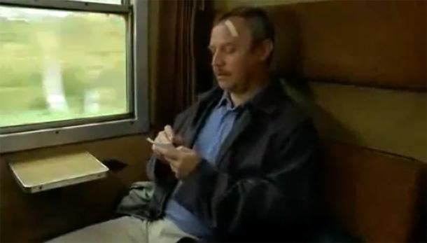 Dzień Świra - scena w pociągu