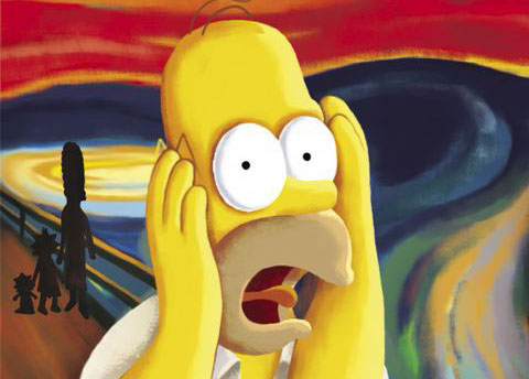 Homer Simpson - Krzyk Muncha
