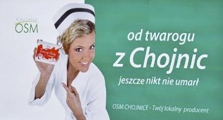 Reklama twaróg z Chojnic