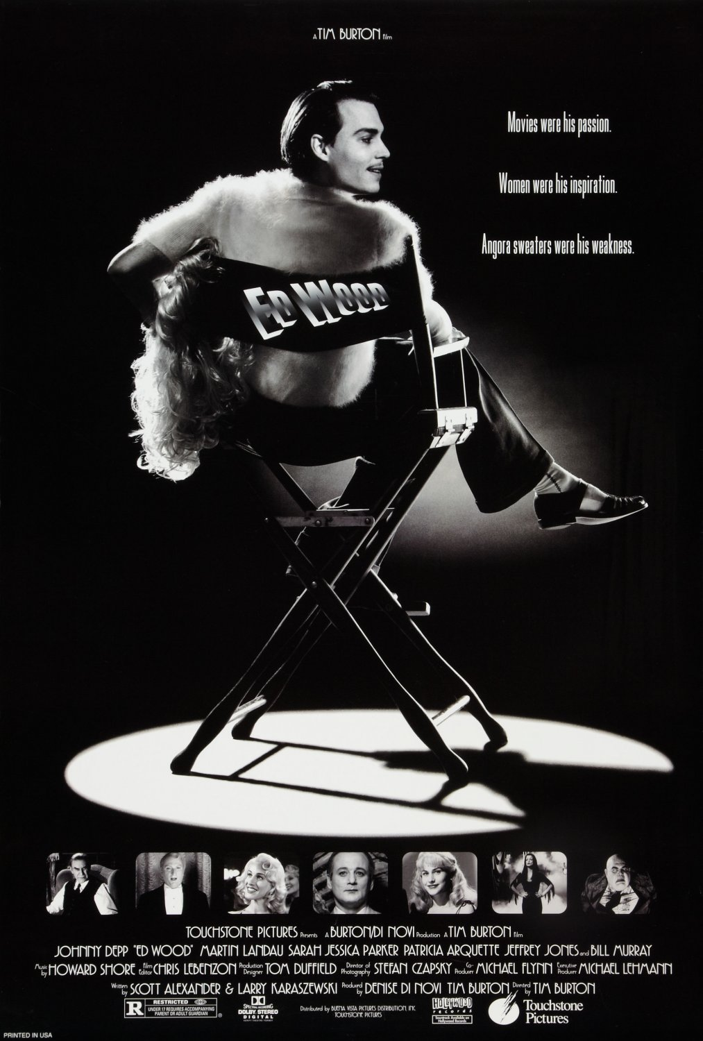 "Plakat do filmu ""Ed Wood"""
